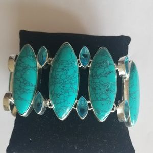 Jewelry - Amazing Sterling Turquoise Sterling Bracelet